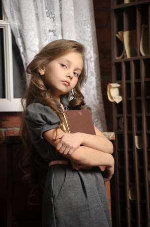 side order: A young girl in library
