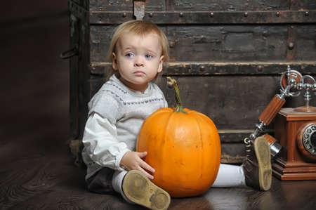 jeffrey: Halloween baby with pumpkins