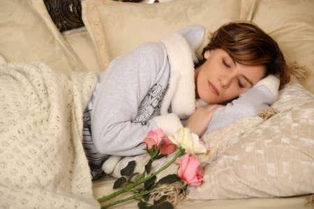 young woman sleeping Stock Photo - 17107022