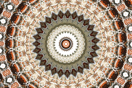 brown circular national pattern Stock Photo - 17107573