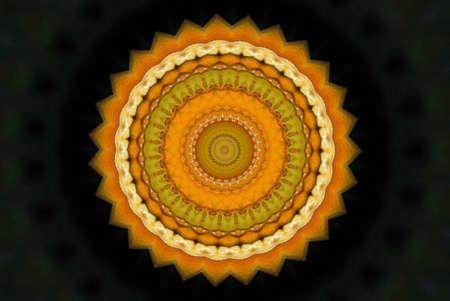 orange with black ornament Stock Photo - 17107473