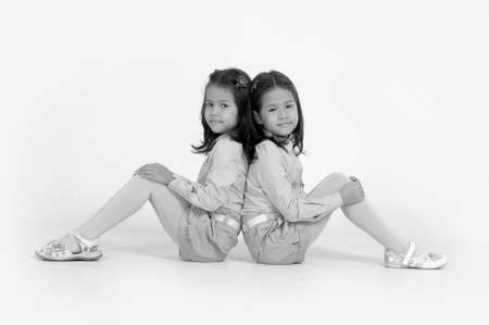 koreans: Koreans twin sisters Stock Photo
