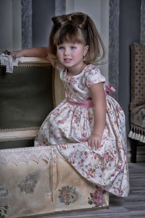 charming little girl playing Stock Photo - 17547828