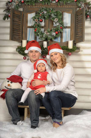 First Christmas for baby Stock Photo - 17106433