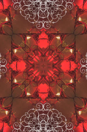 red brown oriental ornament photo