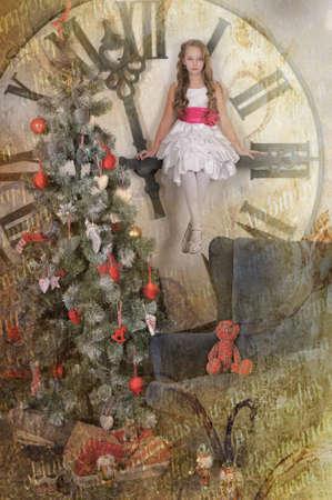 girl waiting for Christmas Stock Photo - 19584527