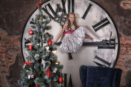 girl waiting for Christmas