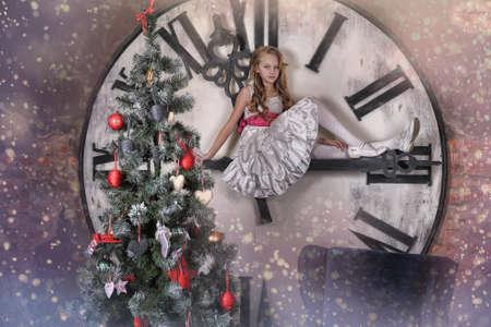 girl waiting for Christmas Stock Photo - 19584382