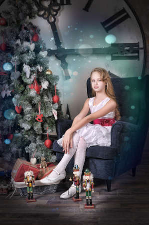 girl waiting for Christmas