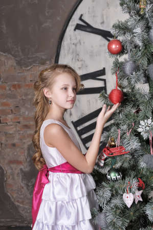 girl waiting for Christmas Stock Photo - 19584525