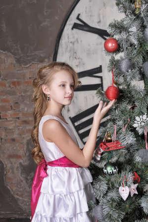 girl waiting for Christmas Stock Photo - 19584525