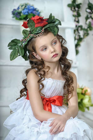ringlet: Vintage Girl with Flowers