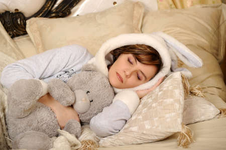 young woman sleeping Stock Photo - 17267999