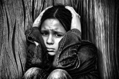 Девушка подросток в депрессию Фото со стока