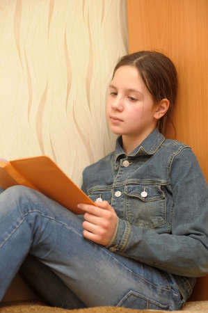 girl reading book Stock Photo - 17267440