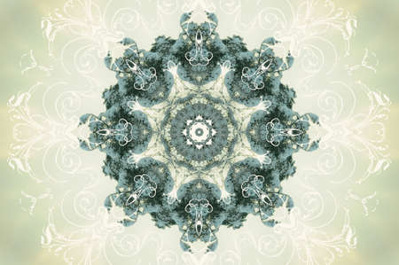 Seamless damask pattern aqua photo