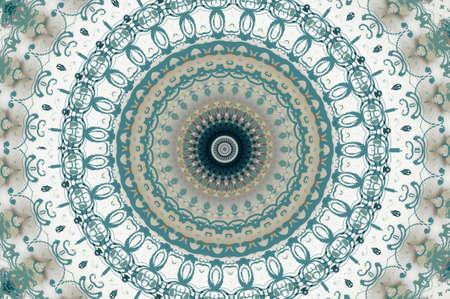 trashed: Seamless damask pattern aqua