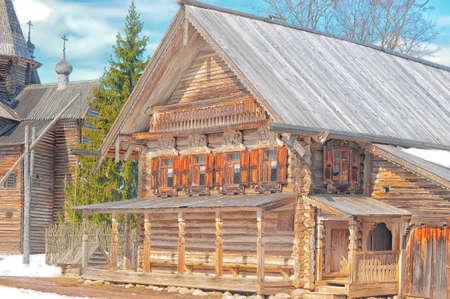 Museum of Russian wooden architecture Vitoslavitsy, Great Novgorod, Russia