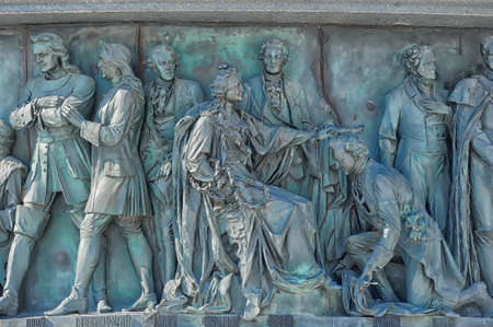 Fragment of monument Millennium of Russia  1862 , Veliky Novgorod Stock Photo - 17917737