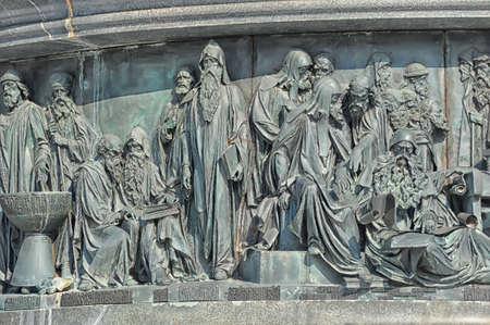 Fragment of monument Millennium of Russia  1862 , Veliky Novgorod Stock Photo - 17917722