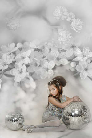silver girl Stock Photo - 17532548