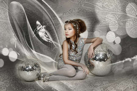 silver girl Stock Photo - 17532569