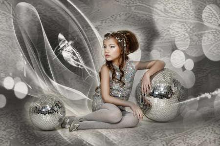 silver girl Stock Photo - 17532569