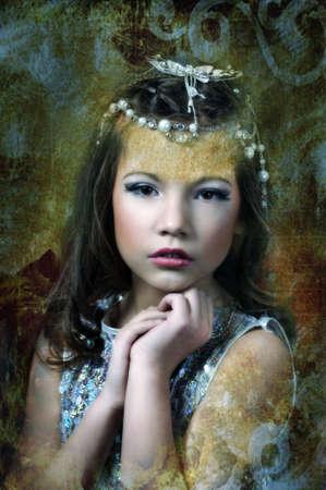 silver girl Stock Photo - 17532637