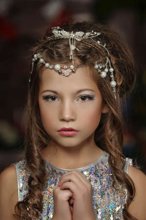 silver girl Stock Photo - 17647141