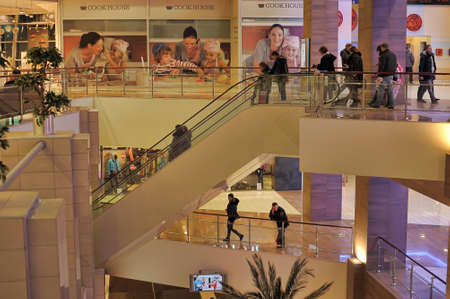 Interior shopping mall Grand canyon in St. Petersburg, Russia