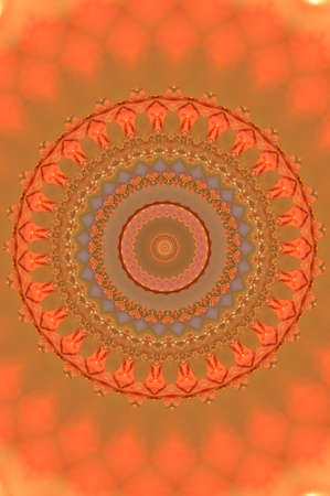 orange circular ornament photo