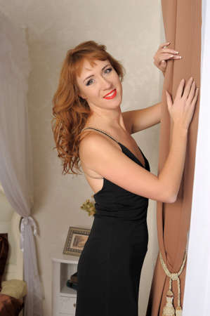 Elegancy stylish glamour girl photo