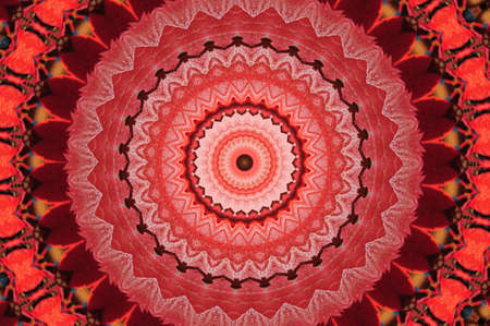red circular pattern mandala photo