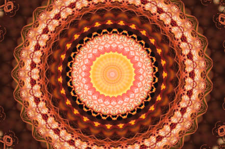 red circular pattern mandala Stock Photo - 17975805
