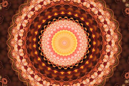 wholistic: red circular pattern mandala Stock Photo