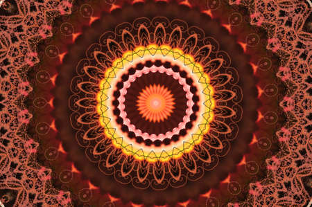 red circular pattern mandala Stock Photo - 17975804