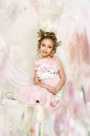 little girl in pink dress Stock Photo - 18592437