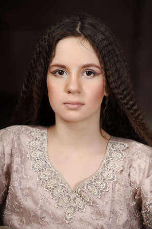 portrait of a beautiful teenager girl with long hair Stock Photo - 19350819