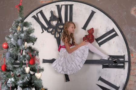 the anticipation: in anticipation of Christmas Stock Photo