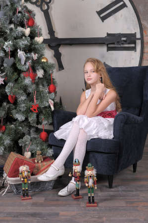 boy 12 year old: in anticipation of Christmas Stock Photo