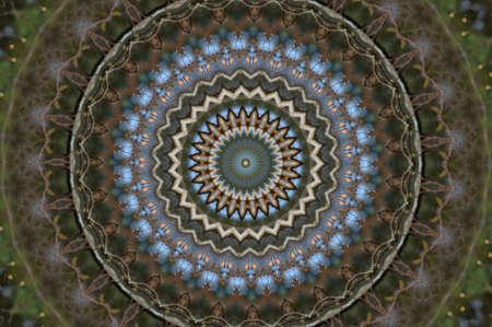 layered sphere: green blue circular pattern