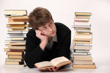 struggled: The student with a considerable quantity of books