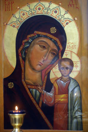 russian orthodox: icon of the Mother of God Stock Photo
