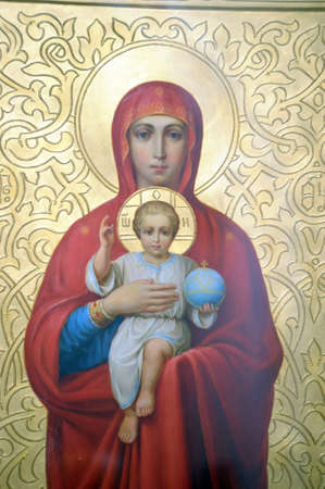 orthodox: icon of the Mother of God Stock Photo