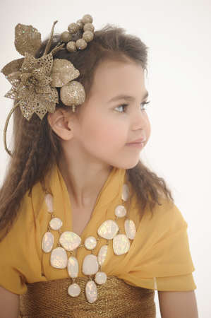 girl in gold Stock Photo - 18811185