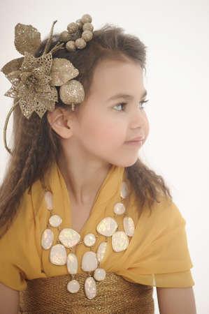 girl in gold Stock Photo - 18811185