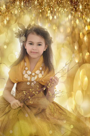 girl in gold Stock Photo - 18811171