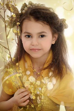 girl in gold Stock Photo - 18811176