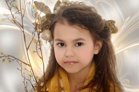 girl in gold Stock Photo - 18811166