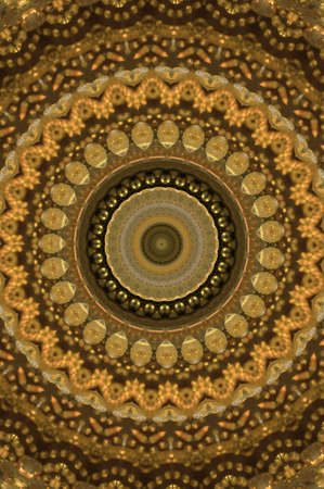 brown with gold circular pattern photo